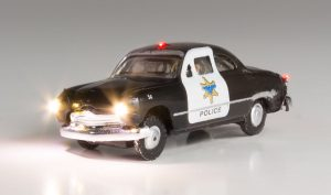 Lighted Vehicle, Police Car - N scale