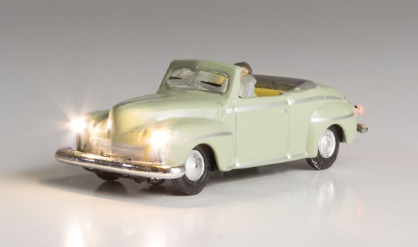 Lighted Vehicle, Cool Convertible - N scale