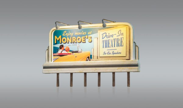 Billboard, Monroe's Drive-In - HO scale