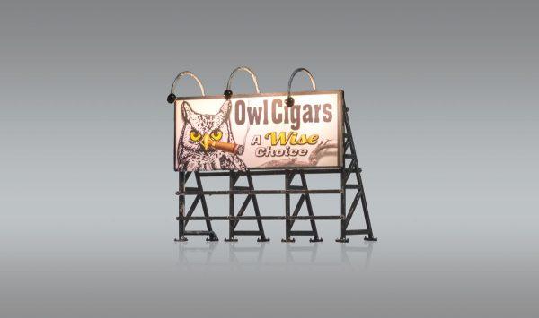 Billboard, Wise Tobacco Co. - HO scale