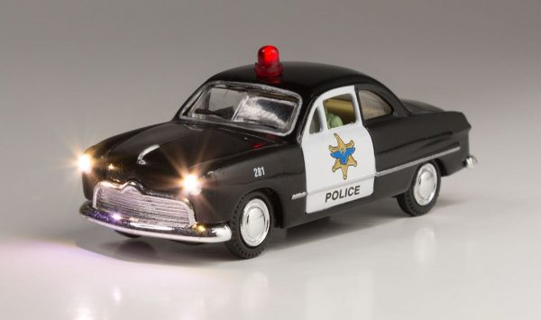 Lighted Vehicle, Police Car - HO scale